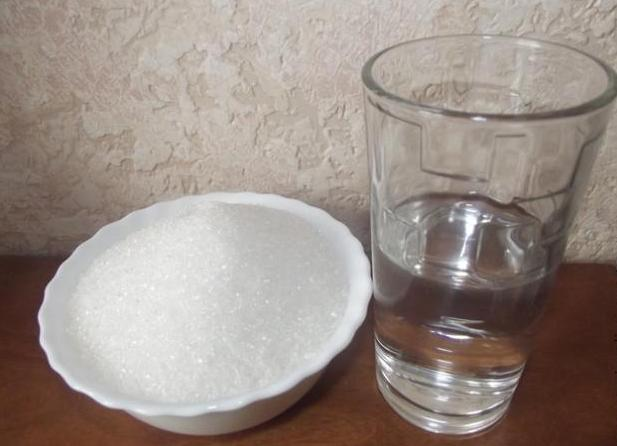 как накрахмалить салфетку сахаром