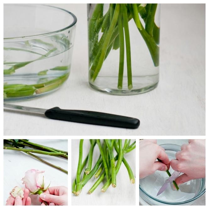 как обрезать цветы для букета