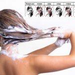 фото как правильно мыть волосы