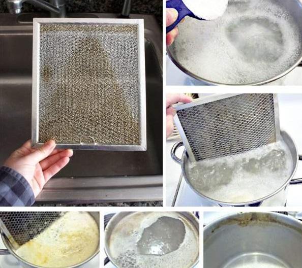 очистка решетки вытяжки содой