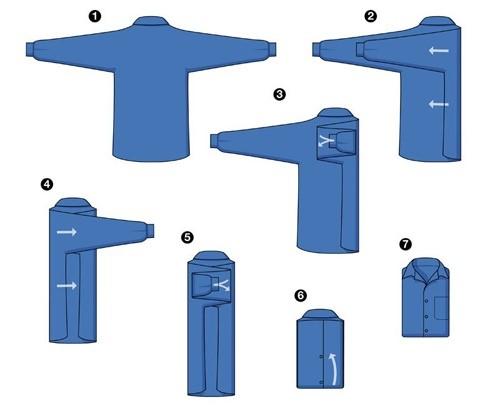 второй способ складывания рубашки