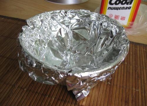 фото чистки серебрянной цепочки кипячением