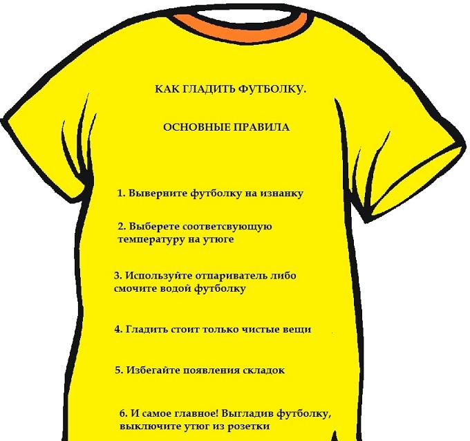 фото пошаговой инструкции по глажке футболки