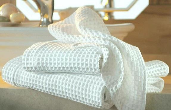 фото чистого вафельного полотенца