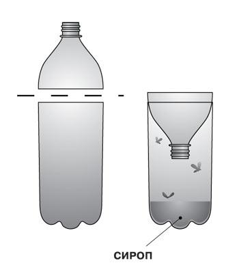 фото ловушки для пчел из палстиковой бутылки