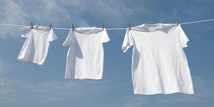 фото правильной сушки футболки
