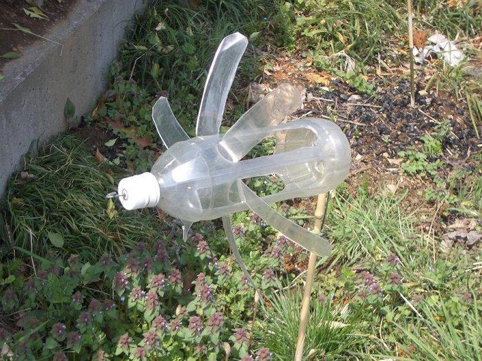 фото отпугивателя птиц из пластиковой бутыкли