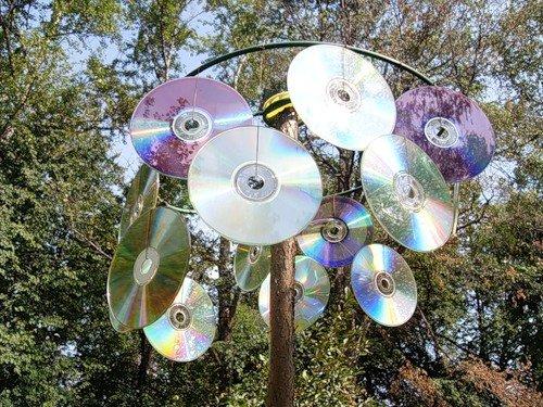 фото отпугивателя птиц из дисков