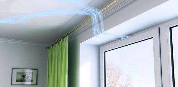 фото вентиляционного клапана в стеклопакете окна