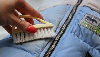 фото как очистить пуховик дома без стирки
