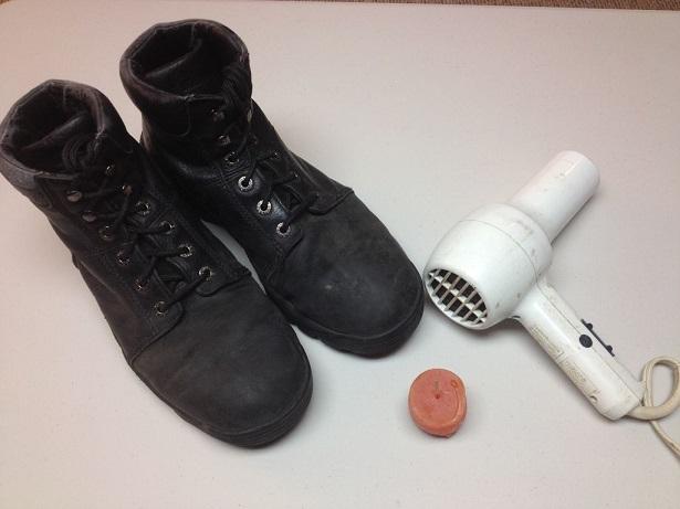 фото самодельной пропитки для обуви из парафина