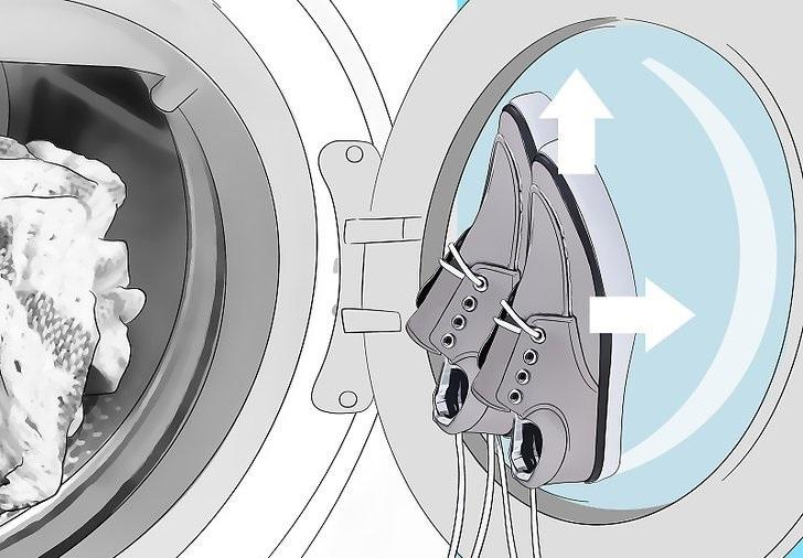 фото как правильно сушить обувь в стиральной машине