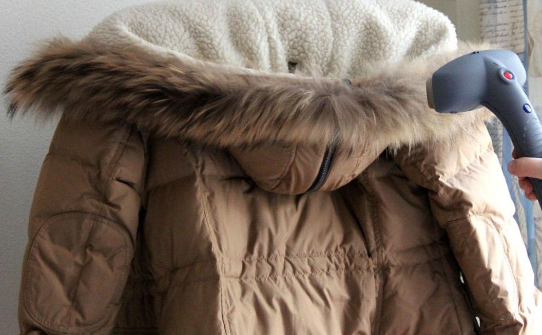 фото глажки куртки парогенератором