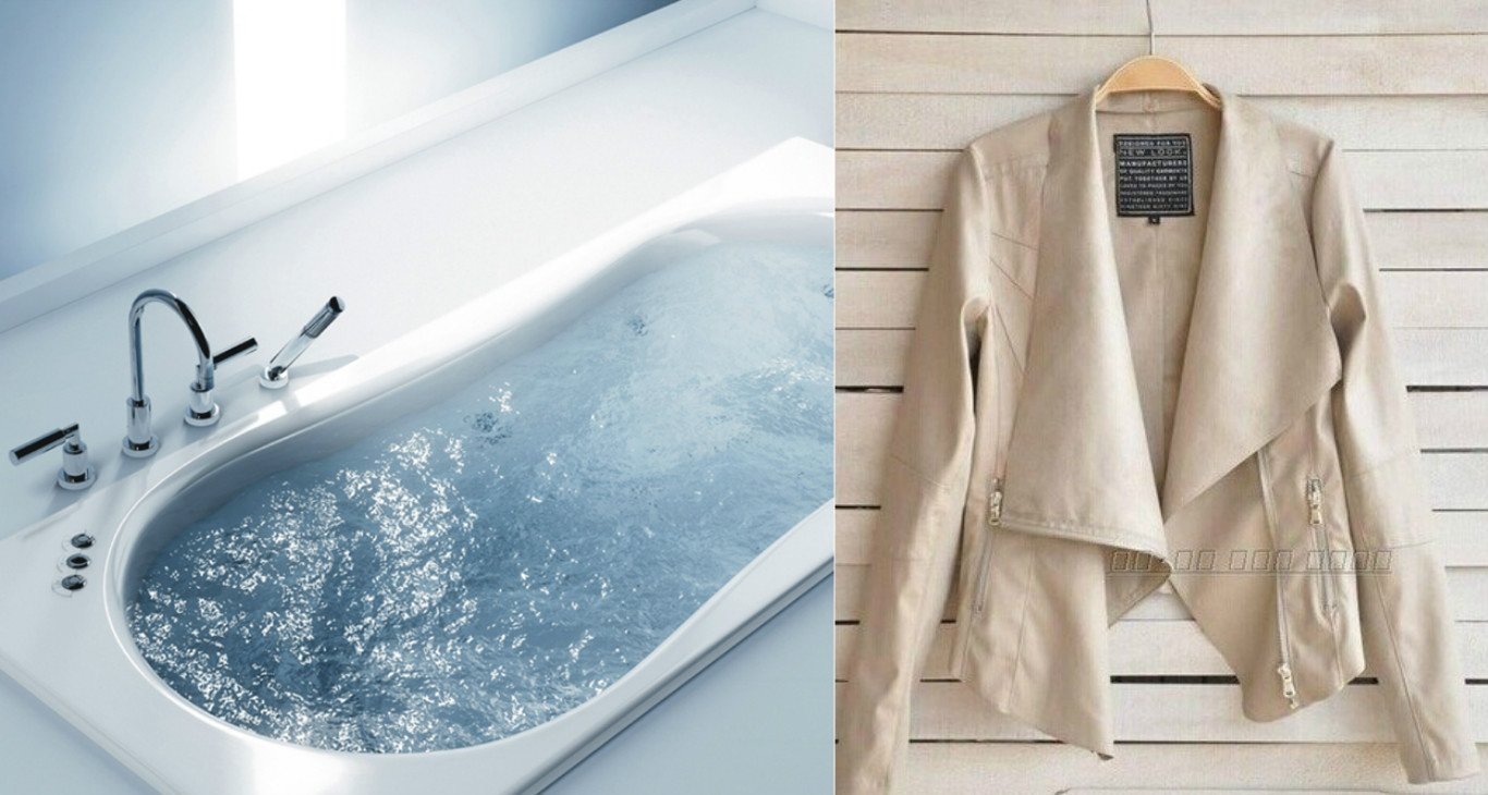 фото глажки куртки распариванием в ванной