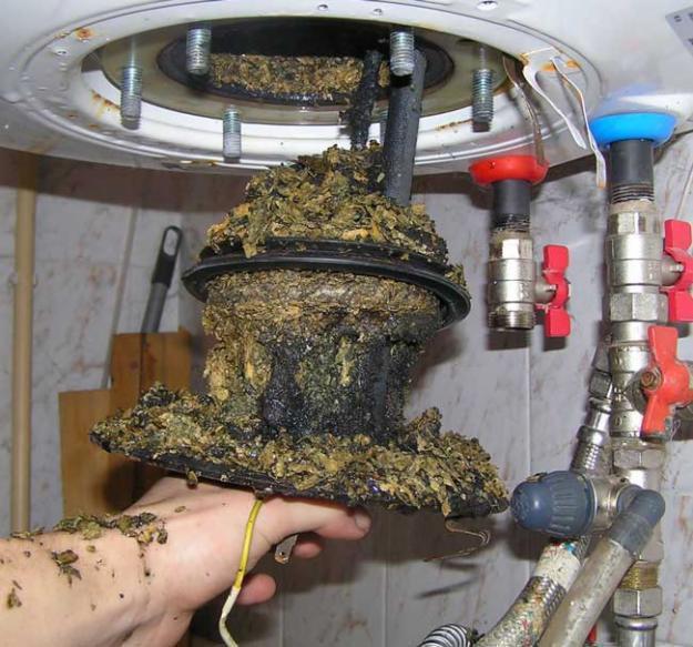 как почистить накпиь на тэне водонагревателя