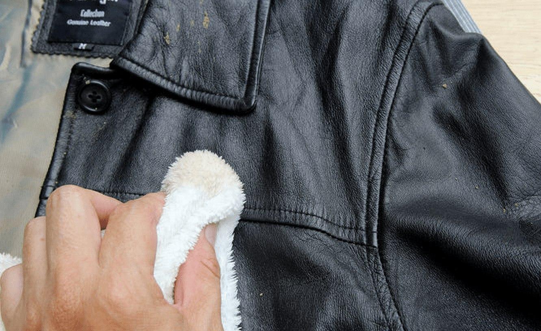 фото как чистить кожаную куртку от пятен